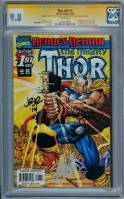 Thor V2 #1 CGC 9.8 Signature Series Signed x3 Stan Lee Romita Jr Marvel comic book
